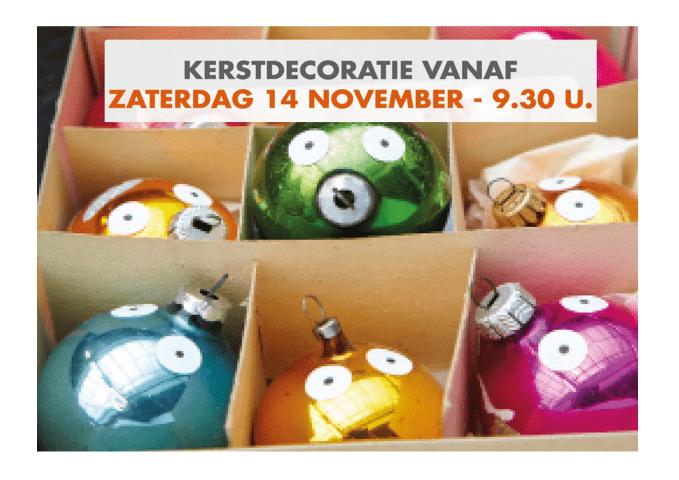 Kerstdecoratie vanaf 14 november in De Kringwinkel