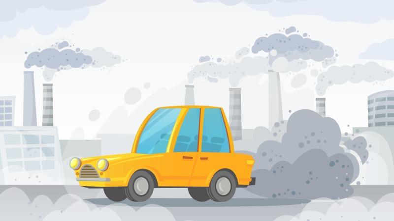 Vervuilende auto