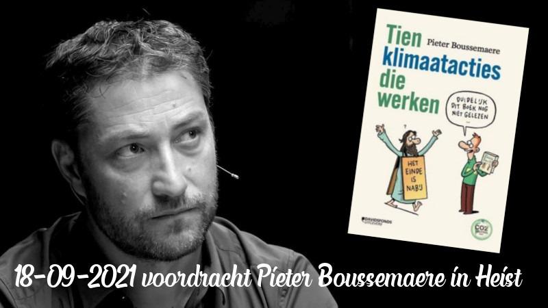 Pieter Bouusemaere op 18 september in het CC Zwaneberg